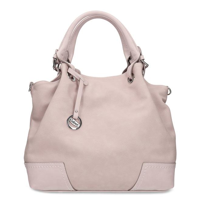 Růžová kabelka s přívěskem gabor, růžová, 961-5017 - 26