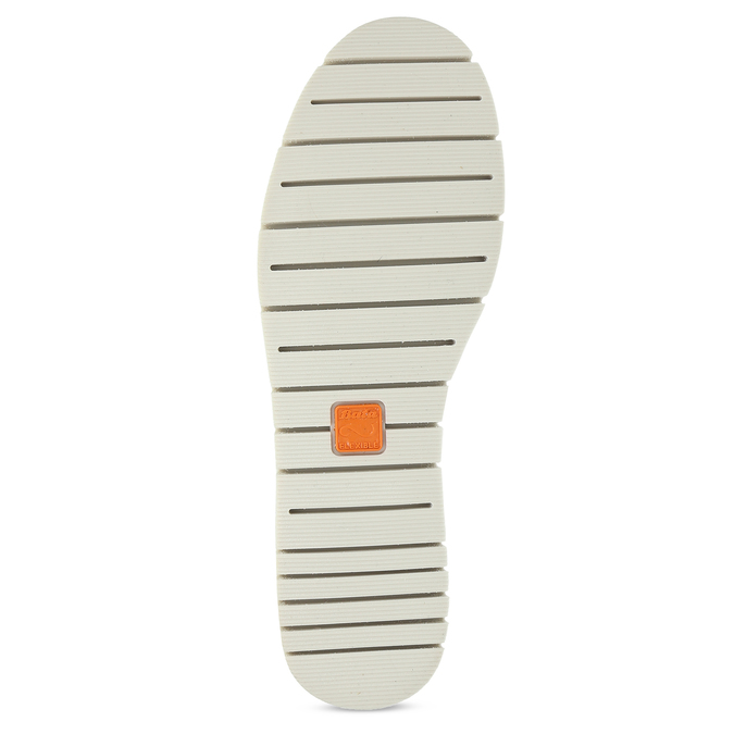 Bílé kožené dámské tenisky s perforací flexible, bílá, 524-1606 - 18