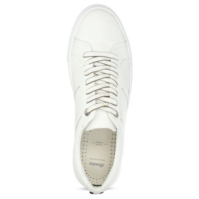 Bílé kožené pánské tenisky bata, bílá, 844-1649 - 17