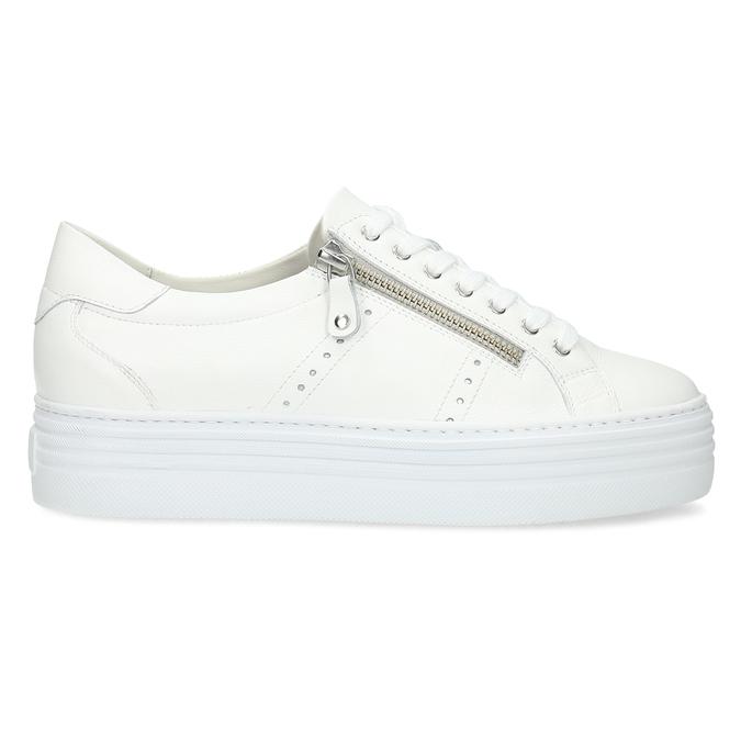 Bílé tenisky na flatformě se zipem bata, bílá, 544-1602 - 19