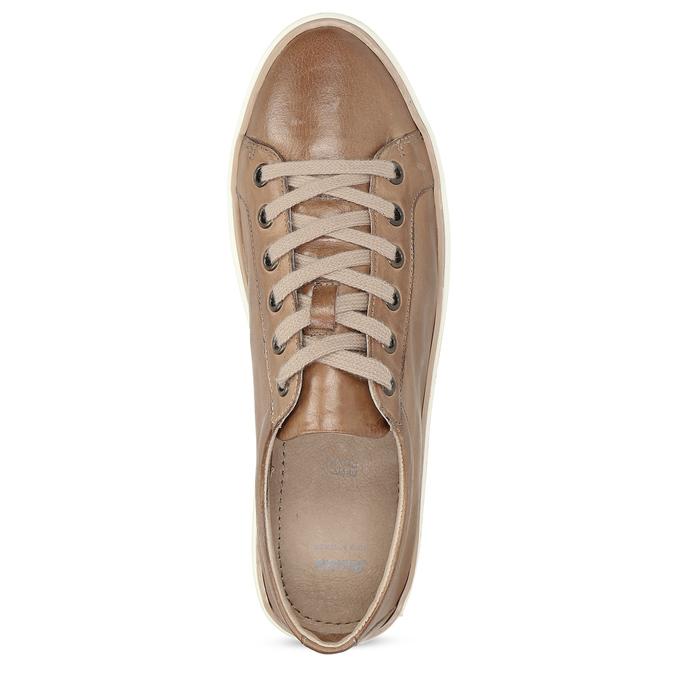 Dámské hnědé kožené tenisky bata, hnědá, 544-3601 - 17