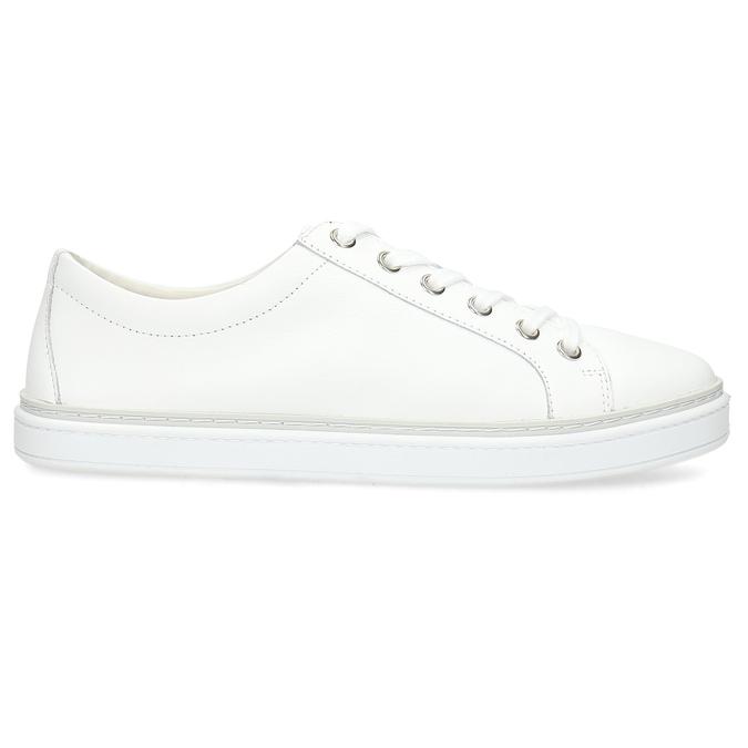 Kožené bílé dámské tenisky bata, bílá, 544-1601 - 19