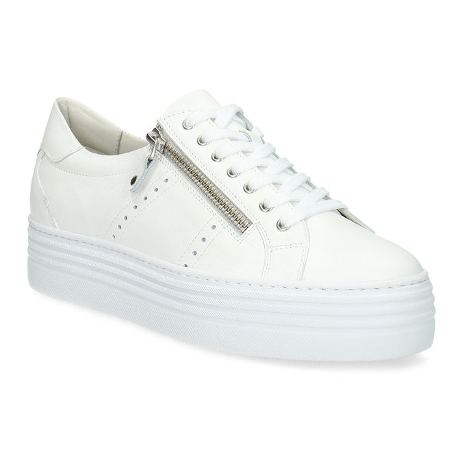 Bílé tenisky na flatformě se zipem bata, bílá, 544-1602 - 13