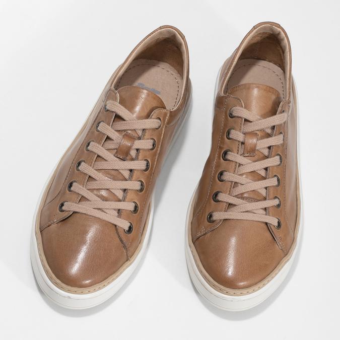 Dámské hnědé kožené tenisky bata, hnědá, 544-3601 - 16