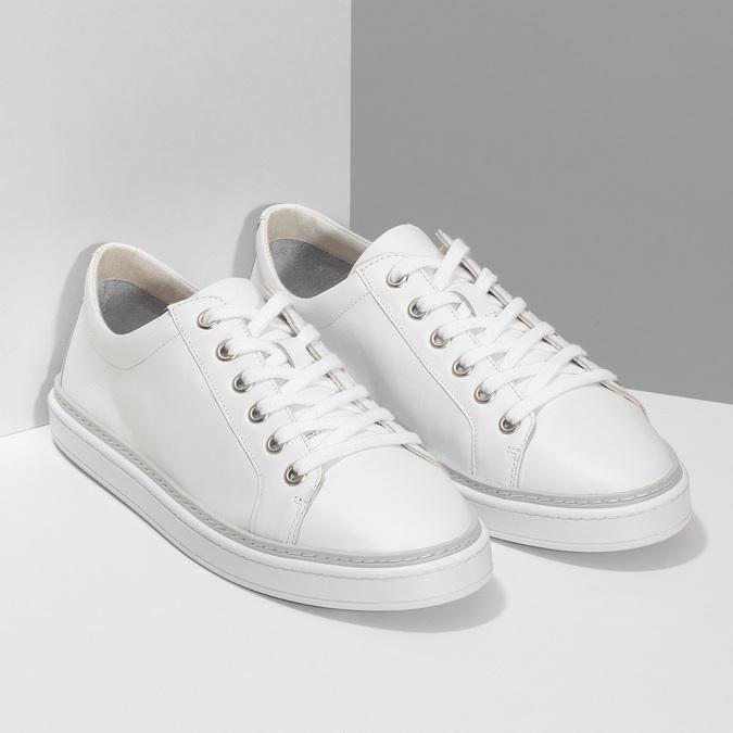 Kožené bílé dámské tenisky bata, bílá, 544-1601 - 26