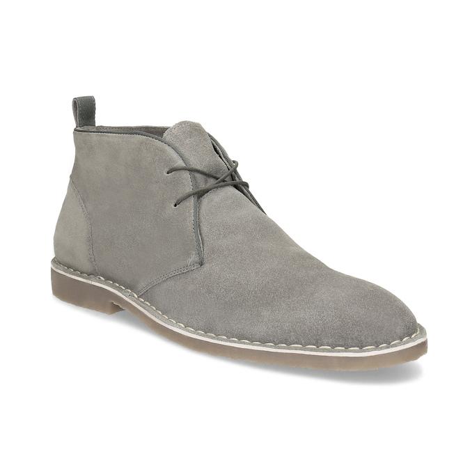 Pánské kožené Desert Boots šedé bata, šedá, 823-8655 - 13