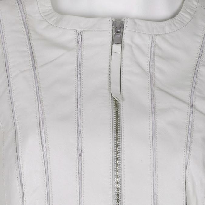 Bílá dámská bunda kožená bata, bílá, 974-1124 - 16