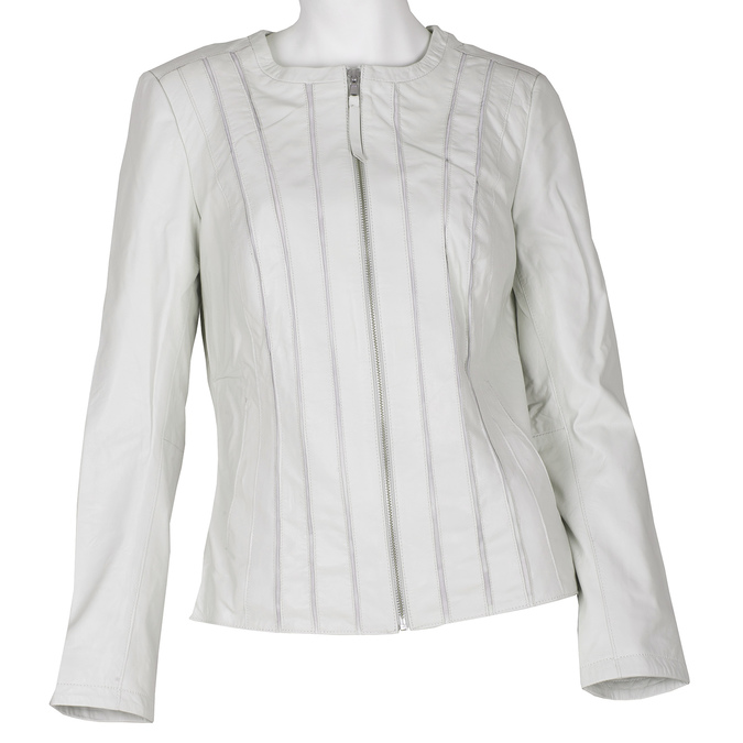 Bílá dámská bunda kožená bata, bílá, 974-1124 - 13