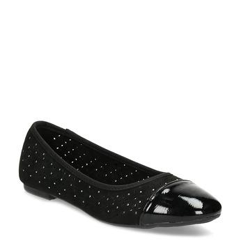 Černé baleríny s kamínky bata, černá, 529-6648 - 13