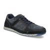 Ležérní pánské tenisky z broušené kůže bata, modrá, 843-9646 - 13