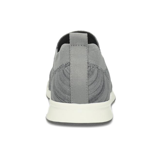 Pánské šedé úpletové slip-on tenisky bata-red-label, šedá, 839-2605 - 15