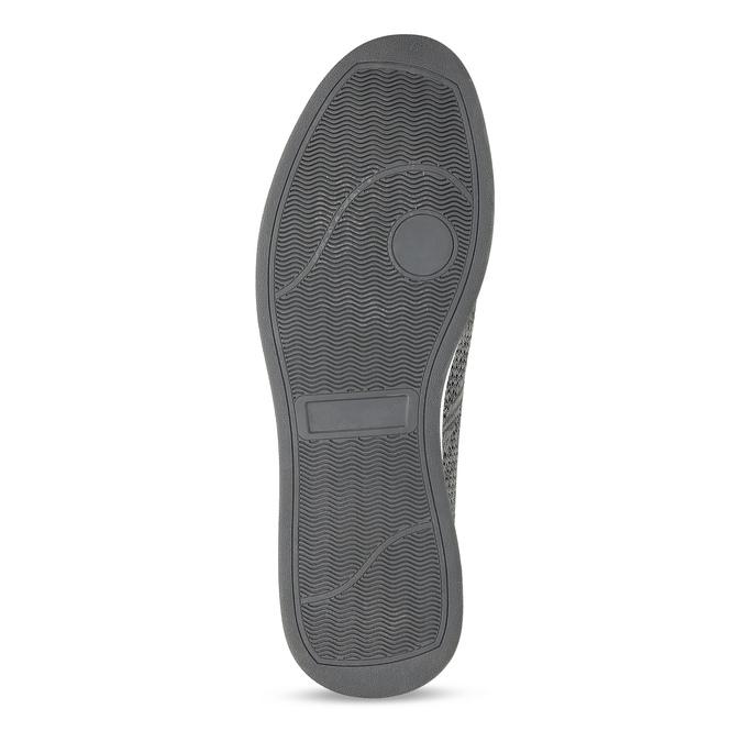 Pánské šedé úpletové slip-on tenisky bata-red-label, šedá, 839-2605 - 18
