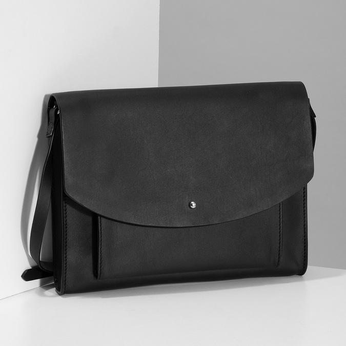 Kožená černá kabelka přes rameno bata, černá, 964-6710 - 17