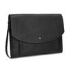 Kožená černá kabelka přes rameno bata, černá, 964-6710 - 13