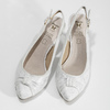 Bílé lodičky do špičky dámské insolia, bílá, 629-1655 - 16