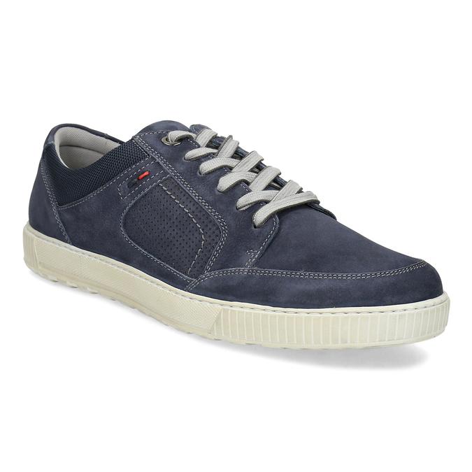 Kožené tmavě modré tenisky bata, modrá, 846-9600 - 13