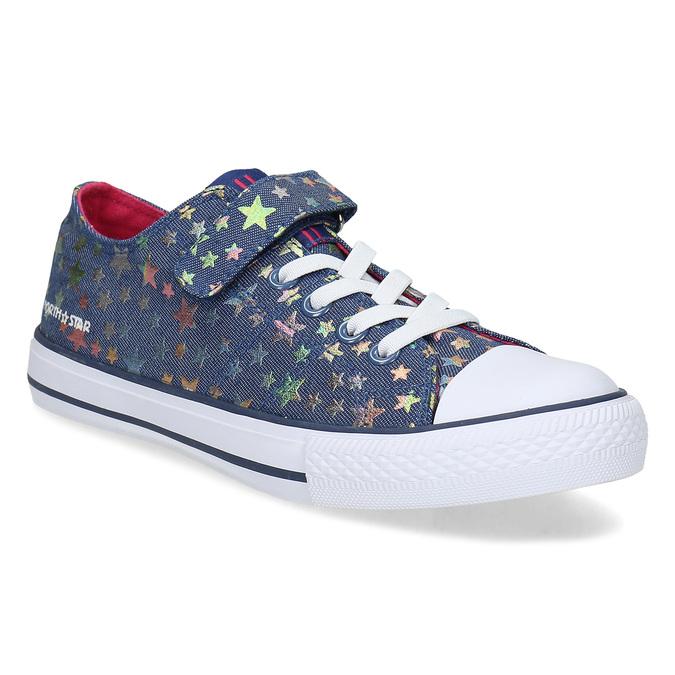 Modré dětské tenisky s duhovými hvězdičkami north-star, modrá, 429-9605 - 13