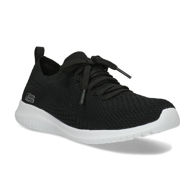 Černé dámské tenisky v pleteném stylu skechers, černá, 509-6105 - 13