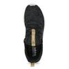 Černé dámské tenisky s hnědým detailem adidas, černá, 509-6469 - 17