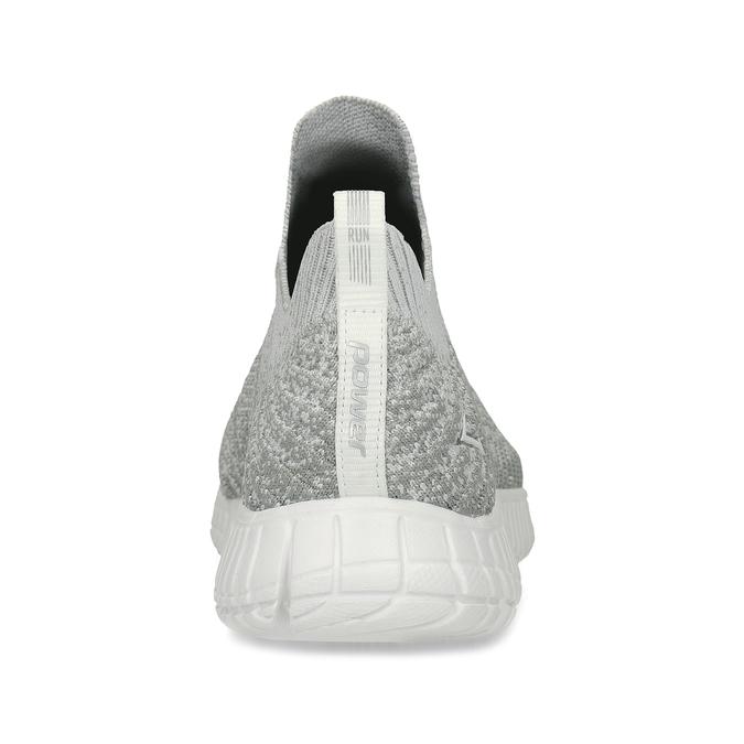Šedé dámské tenisky v pleteném stylu power, šedá, 509-2520 - 15
