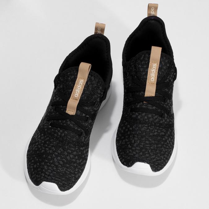 Černé dámské tenisky s hnědým detailem adidas, černá, 509-6469 - 16