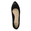 Lodičky z černé broušené kůže bata, černá, 626-6652 - 17