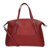 Červená dámská kabelka s perforací bata, červená, 961-5888 - 16
