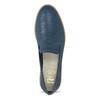 Kožené dámské mokasíny s perforací flexible, modrá, 514-9611 - 17