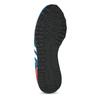 Kožené modré tenisky s červeným detailem adidas, modrá, 803-9302 - 18