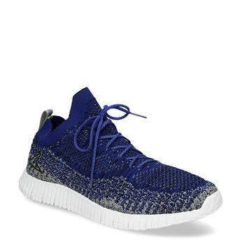 Kotníčkové modré tenisky v pleteném stylu power, modrá, 809-9420 - 13