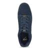 Modré pánské kožené tenisky s bílou podešví power, modrá, 803-9803 - 17