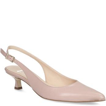 Lodičky na nízkém podpatku nude bata, růžová, 624-5654 - 13