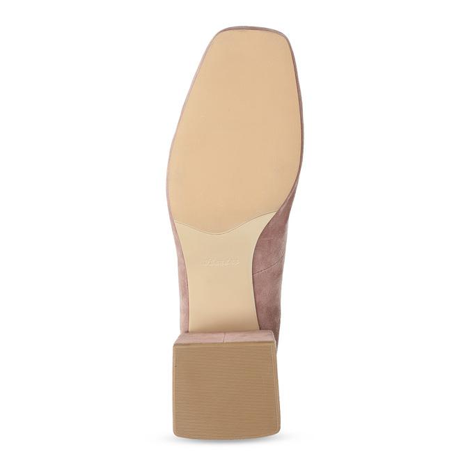 Růžové dámské lodičky z broušené kůže bata, růžová, 623-5648 - 18