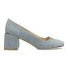 Modré dámské lodičky z broušené kůže bata, modrá, 623-9647 - 19