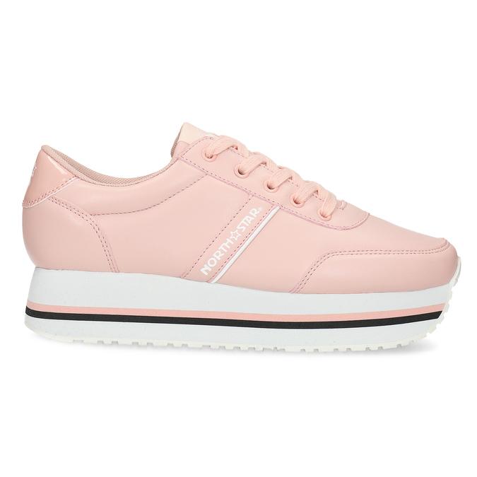 Růžové dámské tenisky s výraznou flatformou north-star, růžová, 641-5608 - 19