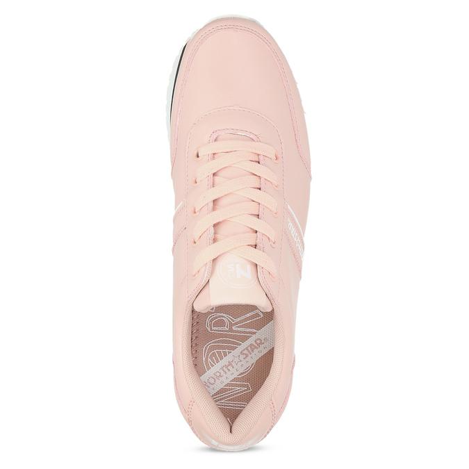 Růžové dámské tenisky s výraznou flatformou north-star, růžová, 641-5608 - 17