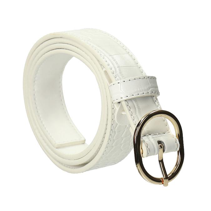 Bílý dámský pásek bata, bílá, 951-1702 - 13