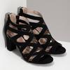 Černé dámské sandály insolia, černá, 661-6611 - 26