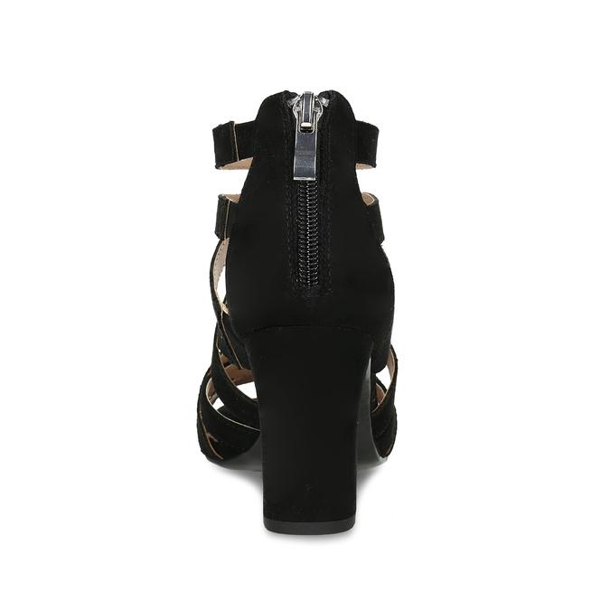 Černé dámské sandály insolia, černá, 661-6611 - 15