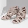 Sandály na stabilním podpatku béžové insolia, béžová, 661-8611 - 16