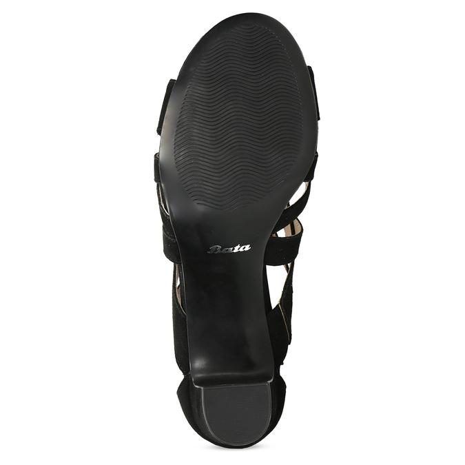 Černé dámské sandály insolia, černá, 661-6611 - 18