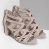 Sandály na stabilním podpatku béžové insolia, béžová, 661-8611 - 26