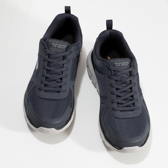 Modré pánské tenisky s kontrastní podešví skechers, modrá, 809-9234 - 16