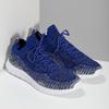 Kotníčkové modré tenisky v pleteném stylu power, modrá, 809-9420 - 26
