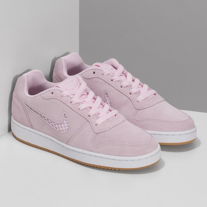Dámské kožené růžové tenisky nike, růžová, 503-5126 - 26