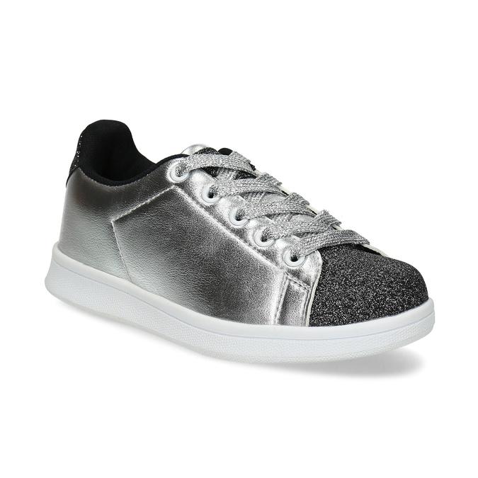 Stříbrné dětské tenisky se třpytkami mini-b, stříbrná, 321-1410 - 13