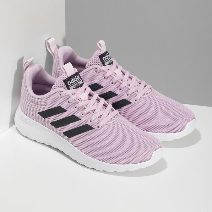 Růžové dámské tenisky s bílou podešví adidas, růžová, 509-5102 - 26
