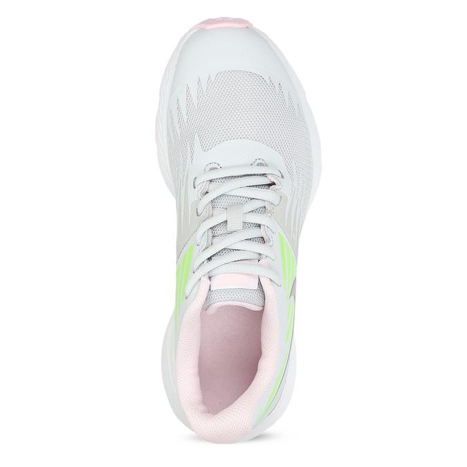Světle šedé sportovní dětské tenisky nike, bílá, 409-1403 - 17