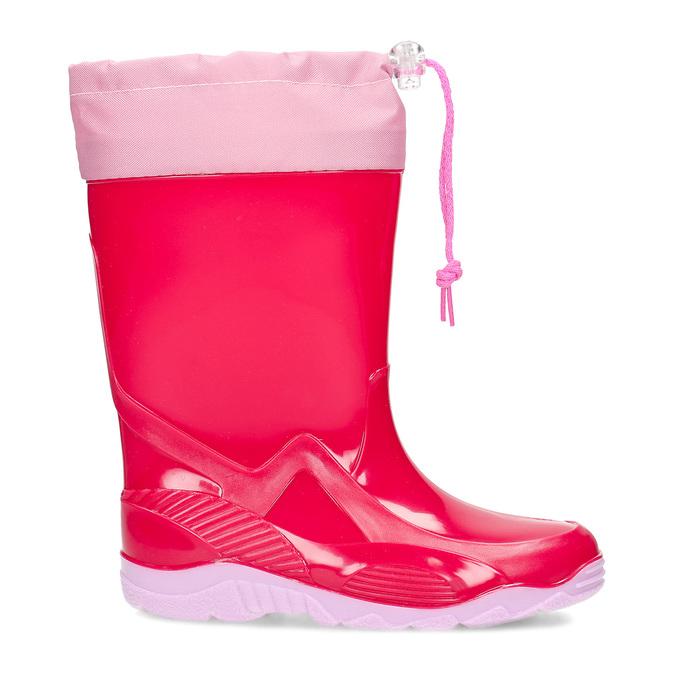 Červené dívčí holínky mini-b, růžová, 392-5641 - 19