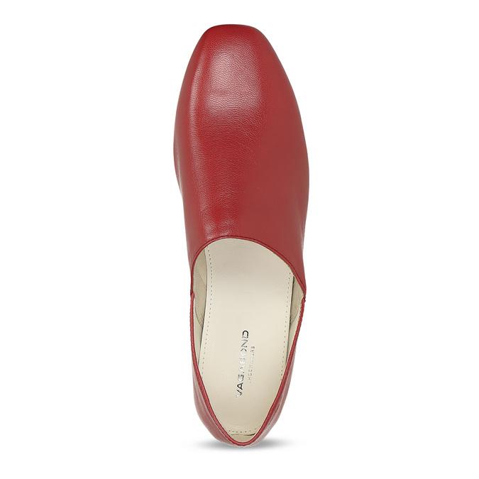 Dámské červené kožené Loafers vagabond, červená, 524-5079 - 17